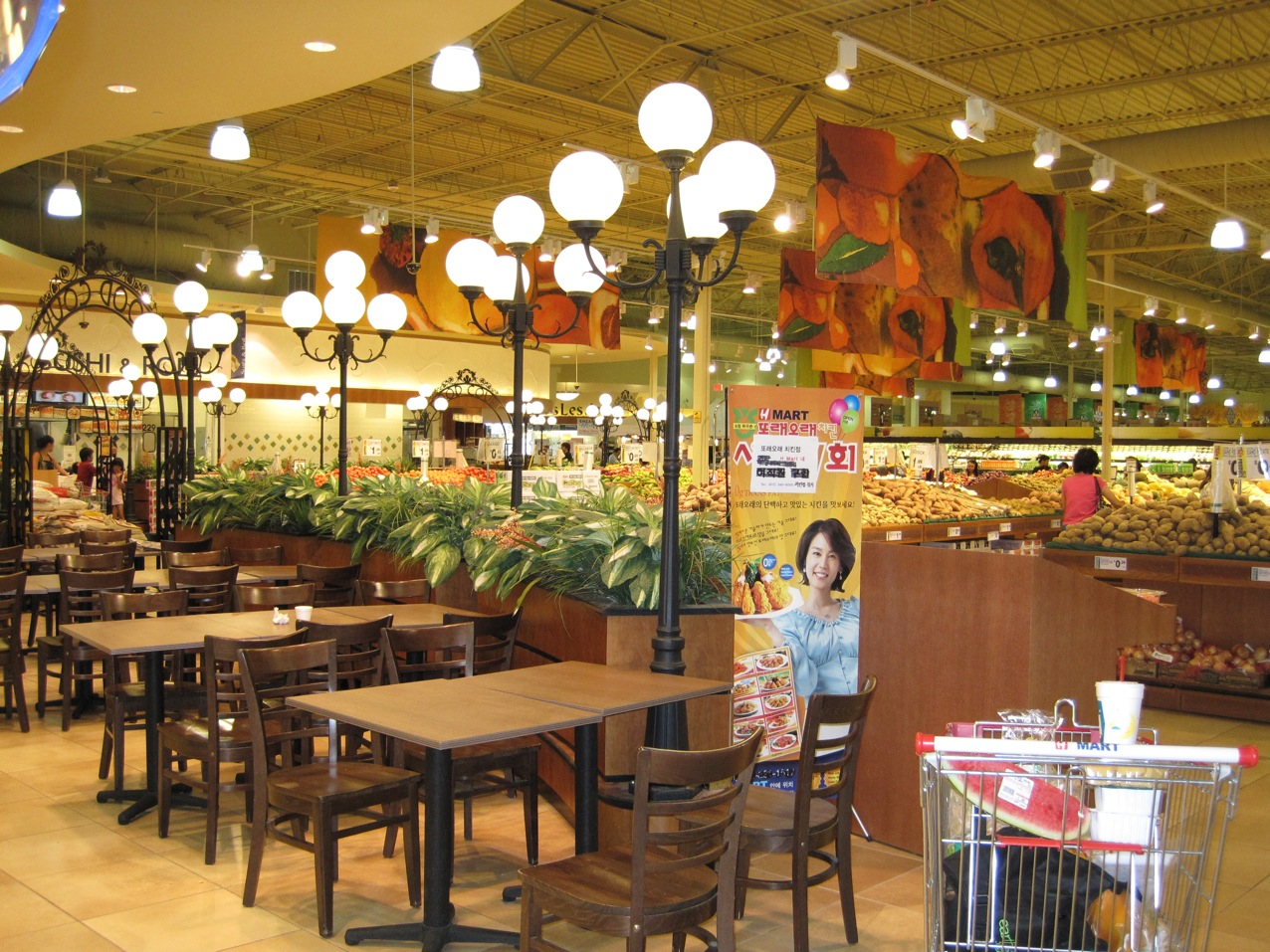 kimchi department (I don't know how else to call it), food court,
